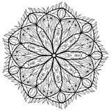 Trama del colorante de la flor de la mandala para los adultos Fotografía de archivo