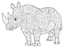 Trama del libro de colorear del hipopótamo para los adultos Imagenes de archivo