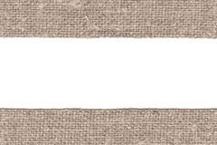 Trama del tessuto, toppa del tessuto, tela marrone, materiale antico, fondo retro-disegnato Immagine Stock