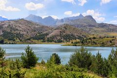 Tramascastilla Lake In Valley Of Tena In Pyrenees, Spain. Royalty Free Stock Photo