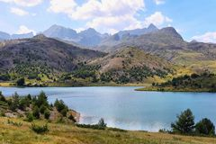 Tramascastilla Lake In Valley Of Tena In Pyrenees, Spain. Royalty Free Stock Photos