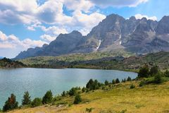 Tramascastilla lake in Valley of Tena in Pyrenees, Spain. Stock Photo