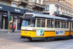 Tramcar в милане Стоковая Фотография RF
