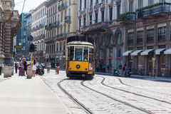 Tramcar in Milan Royalty Free Stock Photography
