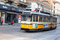 Tramcar in Milan Stock Photography