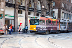 Tramcar in Milan Stock Photo