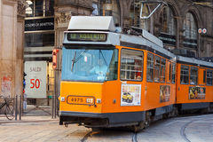 Tramcar in Milan Royalty Free Stock Images