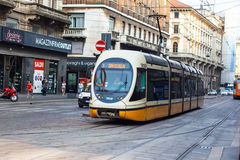 Tramcar in Milan Royalty Free Stock Images