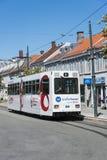 Tramcar Trondheim Norge Royaltyfri Foto
