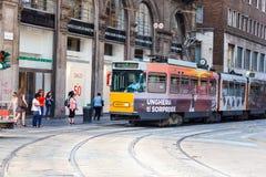 Tramcar w Mediolan Zdjęcie Stock