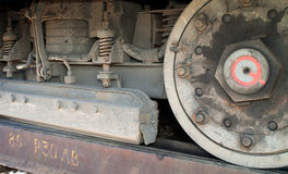 The tramcar wheel Stock Photo