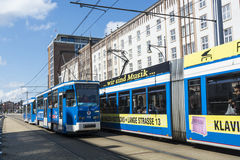 Tramcars in Rostock Stock Photography