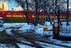 Tramdepot in Moskou Stock Foto's