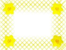 Trame abstraite avec des fleurs Photo stock