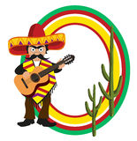 Trame avec un Mexicain Images stock