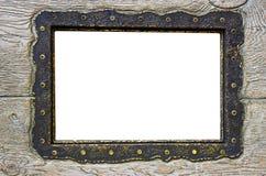 Trame blanc sur le bois désuet photographie stock