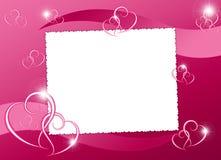 Trame blanche avec le coeur Photo libre de droits