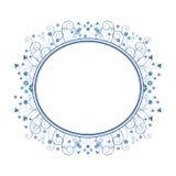 Trame bleue avec des fleurs Photo stock