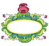 Trame bouclée florale   Photo libre de droits