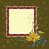 Trame carrée avec la fleur Images stock
