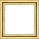 Trame classique d'or en bois Photographie stock