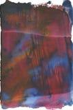 Trame colorée d'aquarelle d'isolement sur le blanc Images libres de droits
