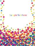 Trame colorée de confettis Images stock