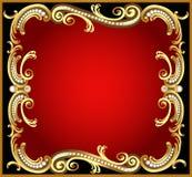 Trame décorative avec la perle d'or de configuration illustration de vecteur