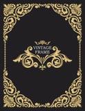 Trame décorative d'or Calibres de vintage de vecteur Le monogramme passé, initiales, bijoux Calibre luxueux illustration libre de droits