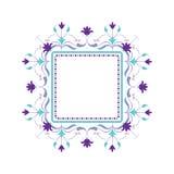Trame décorative de vecteur Élément élégant pour le calibre de conception, endroit pour le texte Lacez le décor pour la carte de  Images libres de droits