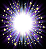 Trame d'étoiles filantes illustration stock