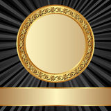 Trame d'or Photo stock