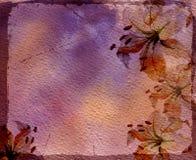 Trame d'aquarelle avec des lis Images stock