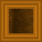 trame d'art en bois Image stock