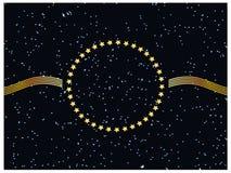 Trame d'or d'extrémité de fond d'étoile. Photo libre de droits