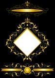 Trame d'or dans le type d'antiquités. illustration de vecteur