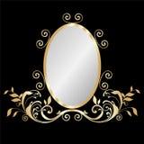 Trame d'or de miroir illustration libre de droits