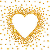Trame d'or sous forme de coeur Photos stock