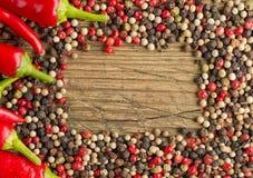 Trame d'un rouge ardent de poivrons de s/poivron Photo stock