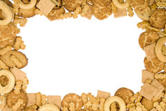 Trame de biscuits photo stock