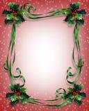 Trame de cadre de houx de Noël illustration de vecteur