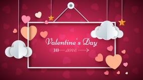 Trame de coeur Jour de Valentine s Photographie stock libre de droits