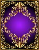 Trame de configuration d'or d'enroulement Image stock