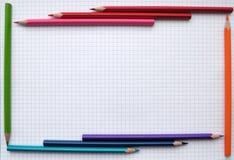Trame de crayons Image libre de droits