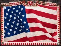 Trame de cru avec l'indicateur superficiel par les agents des USA Photos stock
