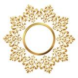 Trame de cru Modèle baroque circulaire Ornement floral rond Carte de voeux Invitation de mariage Rétro type Calibre de vecteur po Image libre de droits