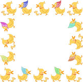 Trame de famille de canard Image libre de droits