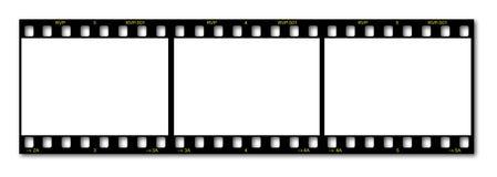 Trame de film blanc Image stock