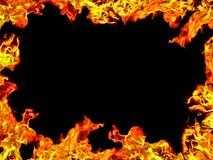 Trame de flamme Photo libre de droits