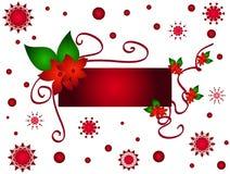 Trame de fleur de Noël illustration stock
